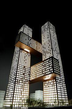Cross # Towers / BIG,Courtesy of BIG