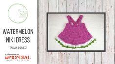 Tutorial - Watermelon Niki Dress (taglia 3-6 mesi)