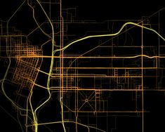 GPS Tracking map highlights the streets.