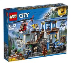 LEGO City Police - Mountain Police Headquarters and thousands more of the very best toys at Fat Brain Toys. Build a mountainside police station, 2 helicopters, a police truck, and a police motorcycle! Lego City Police, Shop Lego, Buy Lego, Lego City Sets, Lego Sets, Lego Duplo, Lego Ninjago, La Grande Aventure Lego, Lego Dc Comics