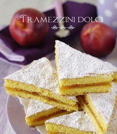 Tramezzini dolci con confettura Sandwich Cake, Dessert Bars, Vanilla Cake, Cake Recipes, Bakery, Sweet Treats, Good Food, Food Porn, Sweets