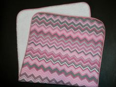 Baby Girl Burp ClothPink Chevron by DirtyRags on Etsy
