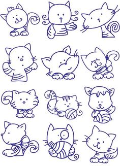 12kitty Embroidery Designs