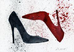 Fashion, Shoes, Illustration, Watercolor Original Painting Art, Quick sketch #IllustrationArt  Natalia Komisarova   NatalieStorePainting     You can also find me on:    EBAY: http://www.ebay.com/usr/natalie_komisarova.art    ETSY: https://www.etsy.com/shop/NatalieStorePainting    FACEBOOK: https://www.facebook.com/komisarova.art    #NataliePaintings #Natalie #Artist #Illustration #Fashion #Shoes