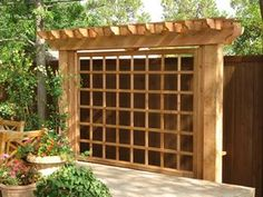 """Skinny Pergola"" to add privacy beyond fence"