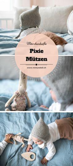 Märchenhafte Pixie Mützen // Süsse Zwergenmützen für Babys und kleine Kinder, selber stricken oder kaufen // www.miniundstil.ch