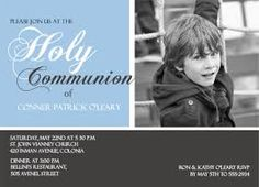 Resultado de imagen para Personalised First Communion Invitations Boy