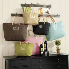 These would make cute Diaper bags with the Baby's name - Ballard Tote Bags