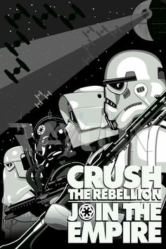 Star Wars Propaganda style poster inspired by various WWII artwork. Star Wars Love, Star Wars Art, Sith, Posters Geek, Nave Star Wars, The Dark Side, Images Star Wars, Bd Comics, Harrison Ford