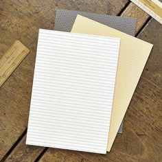 Set of 3 Blank Notebooks by Katie Leamon