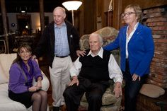 Happy 52nd Anniversary, Mom & Dad! > Enjoy the story of when they first met: http://chuckheathjr.com/mom-dad-anniversary/ #alaska (Picture of Sarah Palin, Chuck and Sally Heath, and Billy Graham)