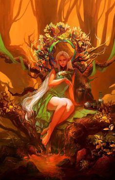 Record of Lodoss War-Deedlit - 30 Mind Blowing Fantasy Artworks  <3 <3