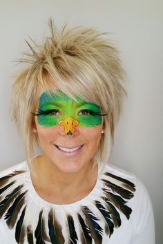 Really cute duck face paint done by fanciful facepainting perfect for. A duck and hunter costume.