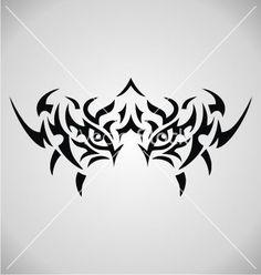 Tribal tiger eyes vector 2095451 - by VectoryOne on VectorStock® More