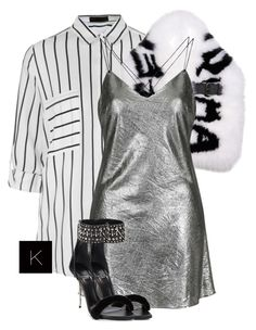 """""""Untitled #3720"""" by kimberlythestylist ❤ liked on Polyvore featuring Ally Fashion, Fendi, Topshop and Versace"""