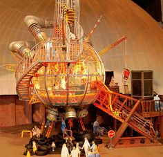 This looks cool! If we could make it look like one of our Haleakala telescopes, it would be great.   *** at Monangaheny Childrens Museum Climber