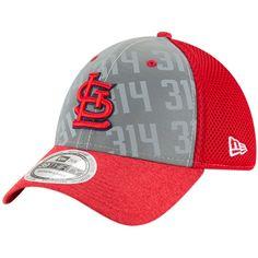 d49634e4d7f Men s St. Louis Cardinals New Era Gray Code Flect 39THIRTY Flex Hat