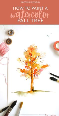 HOW TO PAINT A WATERCOLOR FALL TREE