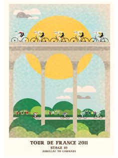 Beautiful illustrations for Tour de France 2011. There's a whole series and they're all so lovely.