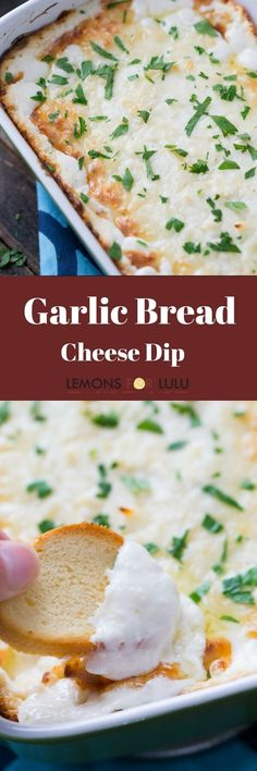 If you love garlic bread then you have to try this dip! The garlic and the melted cheese will have you coming back for more!