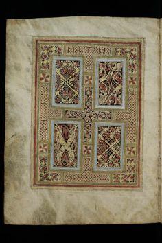 St. Gallen, Stiftsbibliothek, Cod. Sang. 51: Irish Evangelary from St. Gall (Quatuor evangelic) p.6 (http://www.e-codices.unifr.ch/en/list/one/csg/0051)
