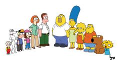 Family Guy and The Simpsons mashup.