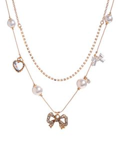 betsey johnson sweet bow necklace