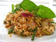 Larb Gai (Spicy Chicken Salad) - Agaligo Thai Cuisine in Albany, CA