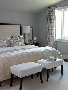 Designed by Sarah Richardson - inspiration - look of two benches, light grey scheme