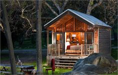 This is what I am going to have built down by Bear Creek to stay in until I build the house.