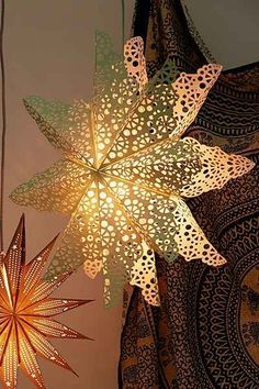 Cutout Star Paper Lantern - Delicate paper lantern finished with a playful cutout motif.  Perfect for updating any space! (aff link)