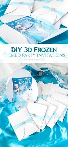 DIY 3d Frozen Themed Party Invitations