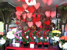 Valentine arrangements by Flowers By Floyd Harbor