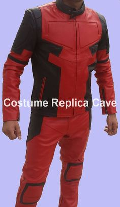 Replica Full Leather or Cordura Deadpool Movie Costume or Motorcycle Suit **Price Drop**
