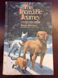 The Incredible Journey by Sheila Burnford Hardcover Fiction Book Vintage 1960s
