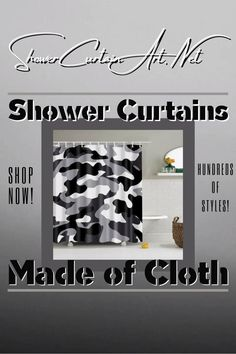 Drastically enhance your bathroom decor with a soft & stylish fabric shower curtain from Shower Curtain Art. Shower Curtain Art, Modern Shower Curtains, Fabric Shower Curtains, Bathroom Shower Curtains, Bathroom Fixtures, Man Cave Bathroom, Downstairs Bathroom, Modern Bathroom Design, Bathroom Interior Design