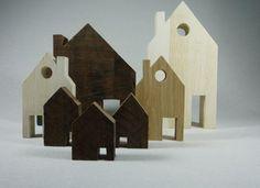 Houten huisjes (vanaf 4 cm).