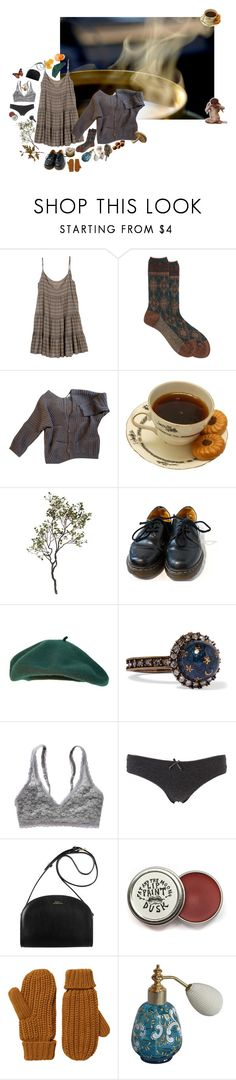"""And this is how I would like to leave my body and start again"" by florencebriggs ❤ liked on Polyvore featuring Rebecca Minkoff, Antipast, Maje, Crate and Barrel, Dr. Martens, Valentino, Aerie, Charlotte Russe and Monki"
