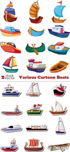 Vectors - Various Cartoon Boats