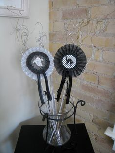 """Halloween rosettes dressed up with Lifestyle Crafts dies. <a href=""""/search?q=halloween"""" class=""""pintag"""" title=""""#halloween search Pinterest"""">#halloween</a>"""