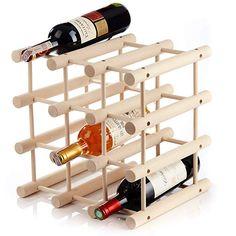 Nook Wine Rack Small Kit 9 Bottle Rack with Modular System Practical Wine Rack Bottle Holder