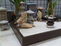 Miniature Zen Garden by WallzArt Zen Gardens, Fairy Gardens, Miniature Zen Garden, Waterfall Fountain, Sandbox, Miniatures, Backyard, Home Decor, Decorating Ideas