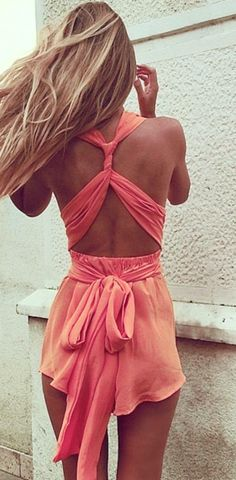 Strappy back romper