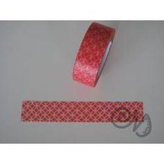 Masking Tape rot mit weissem Muster