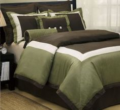 Green and brown bedding on pinterest green and brown - Green and brown comforter ...