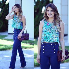 """""""{Bom dia☀️} Look @hitoficial para inspirar Porque as calças de cintura alta são as queridinhas do momento!  Eu amo, e vocês? • #summerfeelings #verao16…"""""""