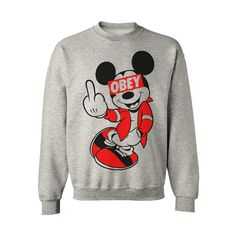 DRAKE YMCMB MICKEY MOUSE HANDS HAVE A NICE DAY SWEATSHIRT SWEATER OBEY..i.need.this.sweat.shirt!