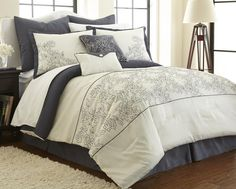 Up to 78% Off: 8-Piece Embroidered Comforter Set + Free Shipping