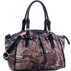 Realtree Girl® Round Satchel with Dual Handles and Shoulder Strap