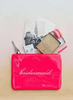 Pink Kate Spade Bag Bridesmaid Gifts | Mint Museum Uptown – Charlotte, North Carolina | Best Day Ever Studios https://www.theknot.com/marketplace/best-day-ever-studios-charlotte-nc-610378 | Corbin Gurkin Photography https://www.theknot.com/marketplace/corbin-gurkin-photography-charleston-sc-767241